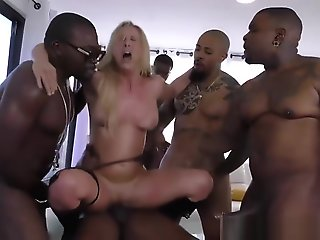 Cherie DeVille gets gangbanged by big black cocks