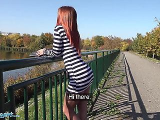 Public Agent Hot Russian Renata Fox rides a big cock