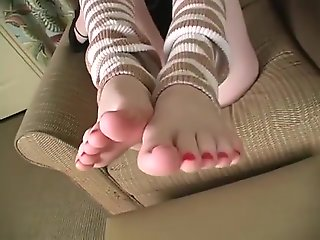 Horny porn clip Feet best pretty one