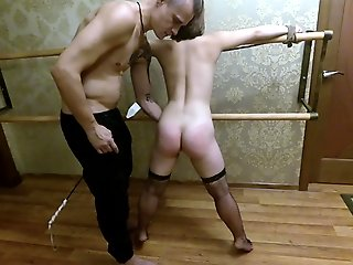 Spank and sex for slave girl