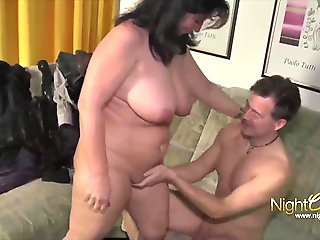 Sexy MILF with big tits having fun with her roommate