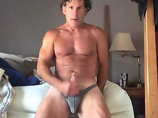 fit dad blows his thick load