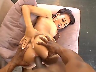 Massive cock dealings for this ebony babe