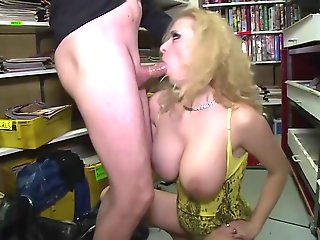 MAGMA FILM German Pornstars in a videoclub