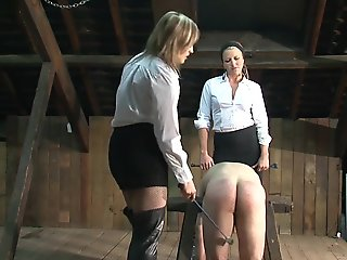 2 mistress with her slave